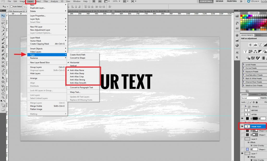 How to Sharpen Text in Photoshop Tutorial