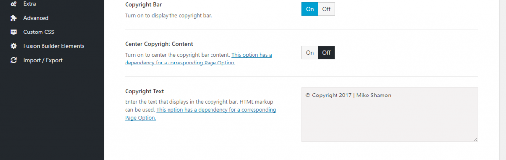 change footer in paid wordpress theme